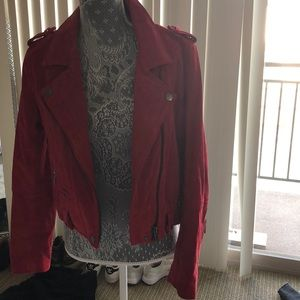 Blank NYC Red suede jacket